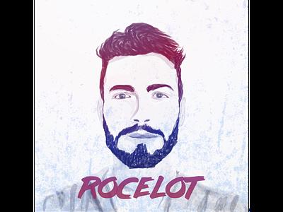 Rocelot self portrait illustration