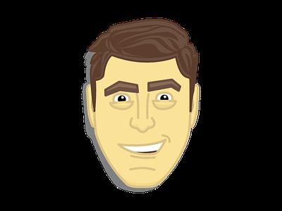 George Clooney portrait george clooney
