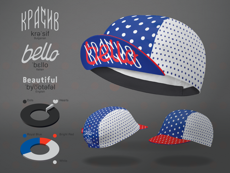 Luís Favas x Bello Cyclist™ Cycling Cap cycling cap cap calligraphy design bicycle