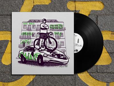 AWAKE Album cover album cover art album cover design album cover building car design bicycle illustration