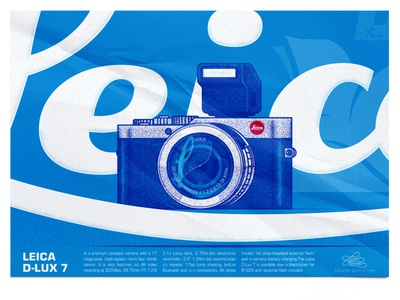 Leica D-Lux 7 camera photography leica vector poster illustration