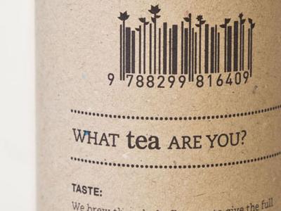 Tea Shop with a twist package branding concept recycled barcode tea tea shop fairtrade typography graphic design design shop wordplay