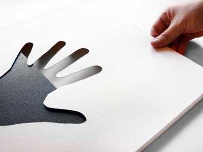 Pop-Up Book graphic design design paper cutting shadow hands die cut wrap popup book
