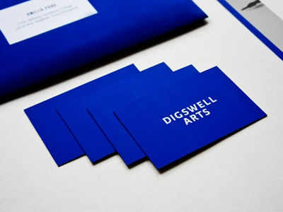 Digswell Arts branding identity logo stationary layout graphic design design student work