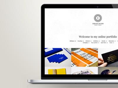 www.caroline-solheim.com graphic design design web web design portfolio work