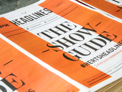 HEADLINES Degree Show 2013 graphic design design exhibition design branding identity newspaper typography logo show