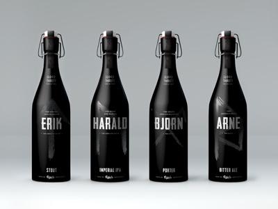 Blood Thirsty Brewing graphic design design bottle design beer beer concept brewery viking viking concept package package design bottle