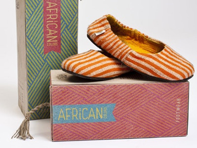 African Colors shoes box shoe box colors package packaging