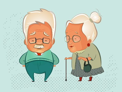 characters grandmother grandfather opa senior elderly people