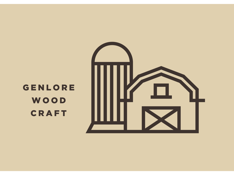 Barn Icon traditional heritage woodworking woodcraft genlore simple minimal thicklines logo icon vector silo farm barn