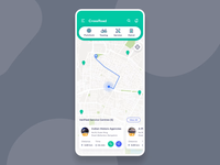 CrossRoad - Vehicle service app concept ui ux design interaction design smart app vehicle service service app map xd concept interaction dashboard cards animation animation after effects animation color card ui mobile app app uiux
