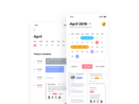 #UI100 Day Challenge # Day 5, Calendar Application