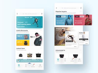 Men's e-commerce shopping e-commerce 清洁 插图 设计 苹果手机 颜色 ios 100天 ux ui