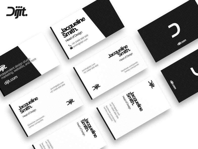 Dijit - Business Cards minimalistic print design design studio branding design promo cards printing branding print design figma