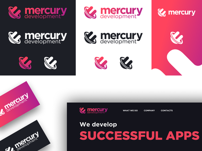 Mercury Development Redesign icon illustration typography logo ui proposal vector development agency branding design branding rebranding development mercury