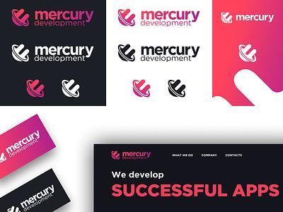 Mercury Development Redesign icon illustration typography logo ui proposal vector development agency branding design branding rebranding development mercury