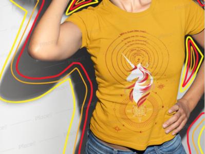 Dark Unicorn T-Shirt t-shirt design t-shirt vector illustration unicorns cosmos unicorn