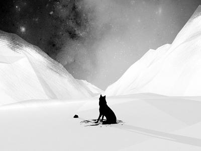 Husky doggy snow dog husky 3d galaxy nebula sky night illustration cosmos