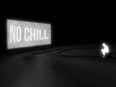 Mindless / No chill lonely anxiety chill games tv nebula sky night illustration cosmos