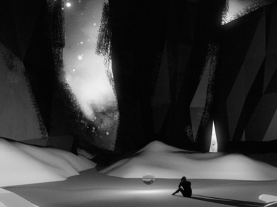 Freeze bw simple lonely dark sad space stars 3d sky night illustration cosmos