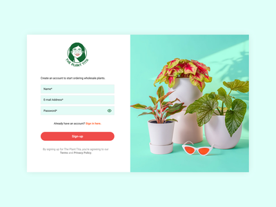 Daily UI Challenge #1 - Sign-up page digital design ux daily ui