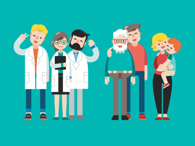 Healthcare Personas Illustration