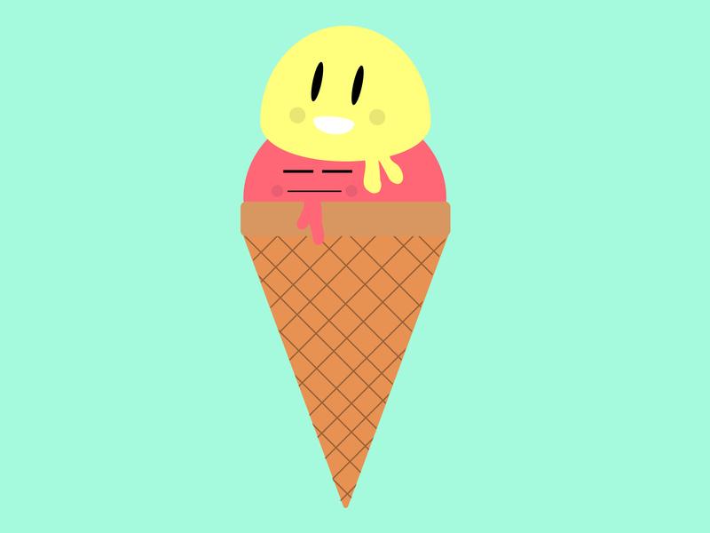 Custard Stack waffle cone double cone custard ice cream cone ice cream