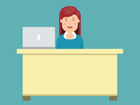 Business Employee Illustration Smiling | Inforgraphics