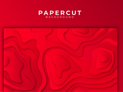 Red colourful abstract stylish paper cut background design. illustration vector corporate creative abstract shadow design background design background stylish red colourful cut paper papercut