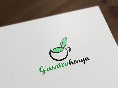 Green Tea Kenya design logo tea green