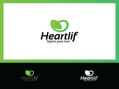 Heart Leaf Logo Design love heat logotype logos green logo design company color dribble business designer professional creative corporate branding illustration cmyk design vector logo