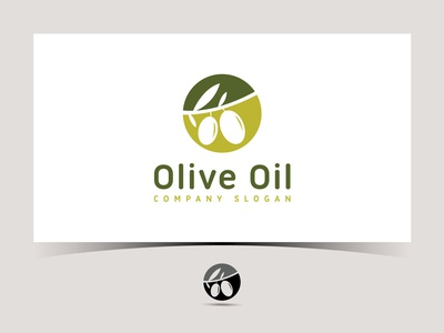 Olive oil vector logo design