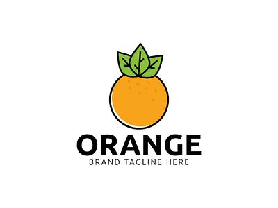 Orange logo design template orange logo design