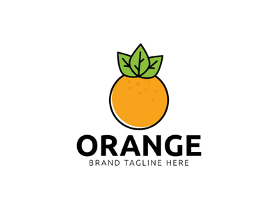 Orange logo design template orange logo design