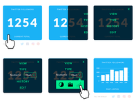 UI Design Experimentation - Data Cards