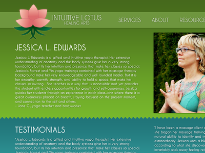 Website Design for Massage Therapist by Heather Strycharz - Dribbble