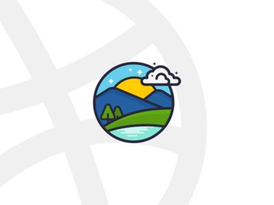 Mountain Ilustration logo illustration icon mountain