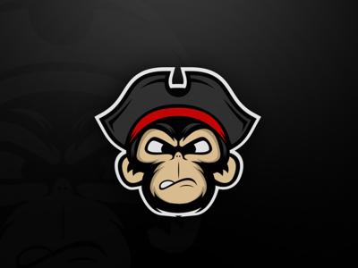 Monkey Mascot pirates monkey character logo mascot