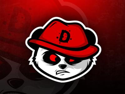 Angry Panda Mascot gaming e-sport panda branding logo character mascot