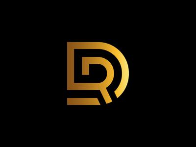 DR Monogram Logo gold initial real estate elegant luxury logo monogram