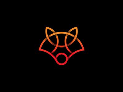 Fox Gradient Logo icon app logo modern logo fox gradient