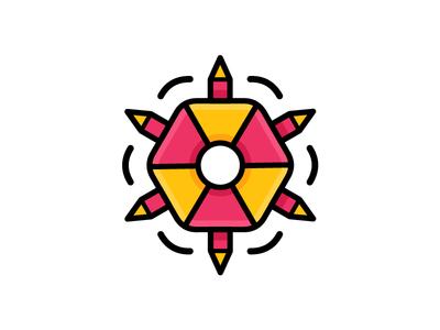 Fun Hexagon Icon illustration icon doodle game fun hexagon