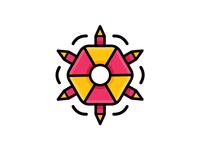 Fun Hexagon Icon
