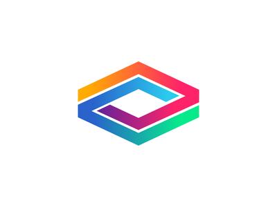 AV Logo app logo modern monogram alphabet shape gradient logo