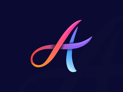 A Gradient a logo logo alphabet gradient icon gradient logo gradient