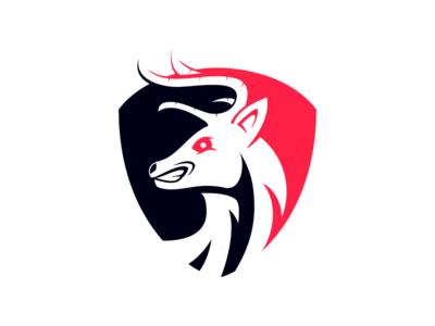 Deer Logo esport games mascot deer logo animal deer