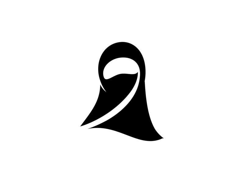 Niqab Logo fashion elegant vector icon mascot app logo character branding logo niqab hijab