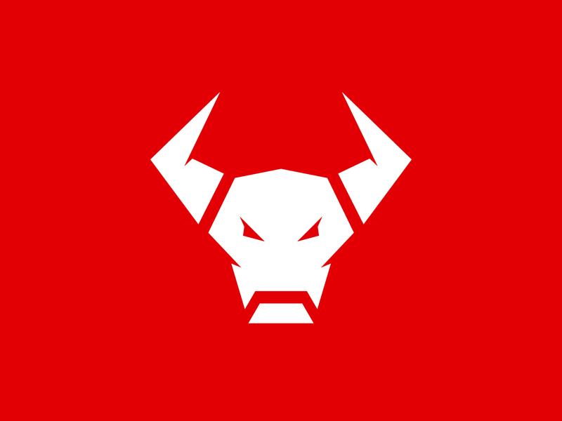 Matador Logo white red header animal buffalo bull vector ui modern branding character icon mascot logo
