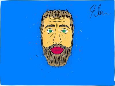Hand drawn self portrait portrait illustration self portrait illustrator draw ipad