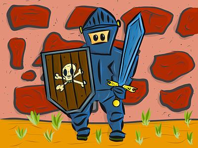 Hand drawn knight hero illustrator draw ipad illustration hand drawn knight